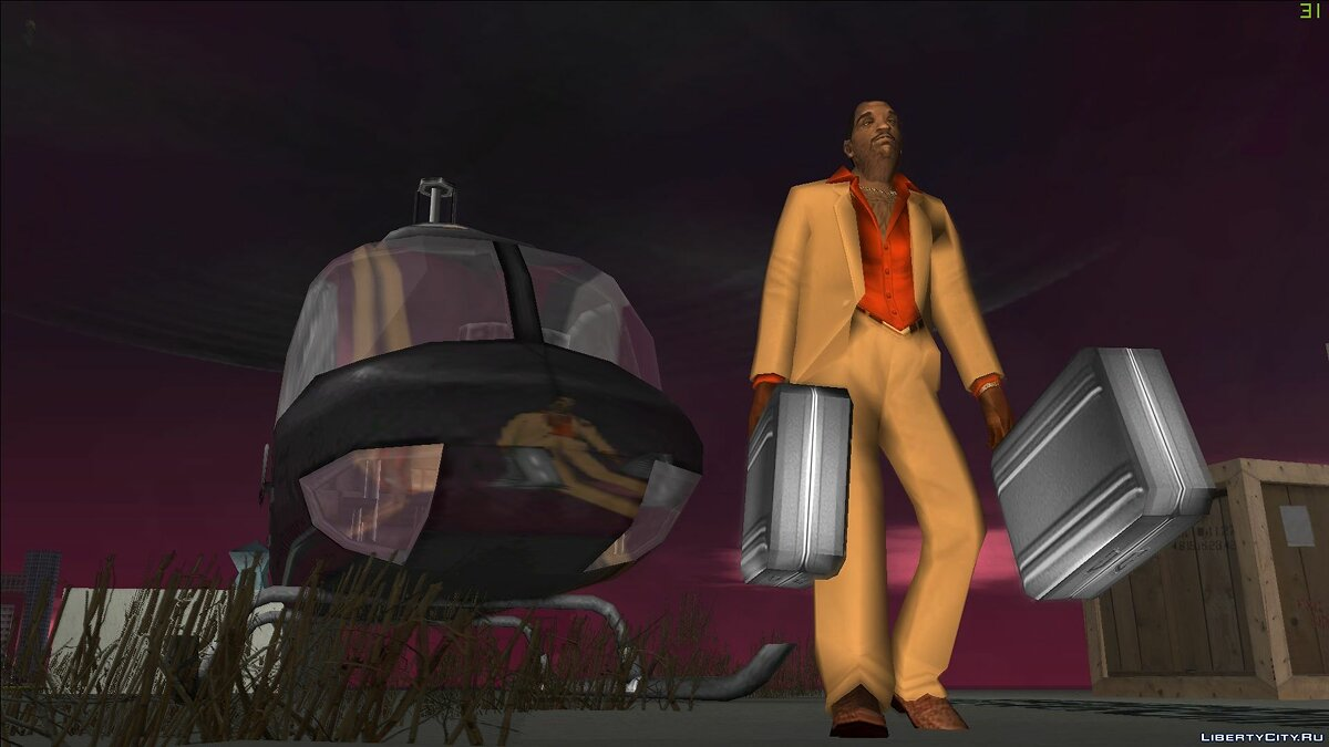 New character Vic Vance in suit for GTA Vice City