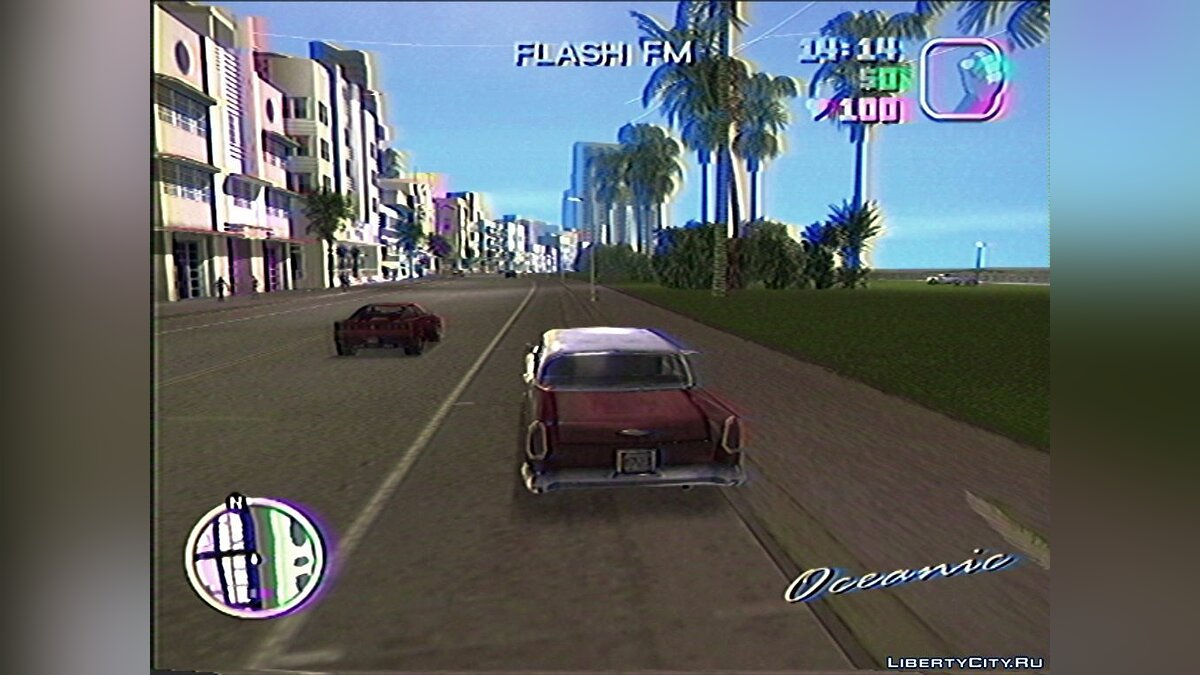 ENB mod Vice City on VHS (ReShade) for GTA Vice City