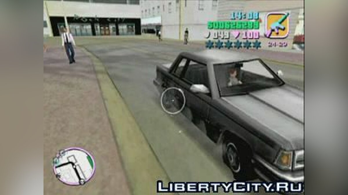 Gameplay video Video - firing the wheels for GTA Vice City