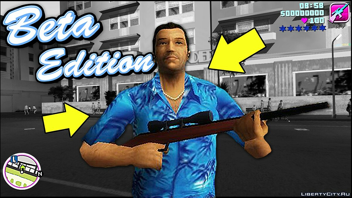Gameplay video Alpha version of GTA Vice City for GTA Vice City