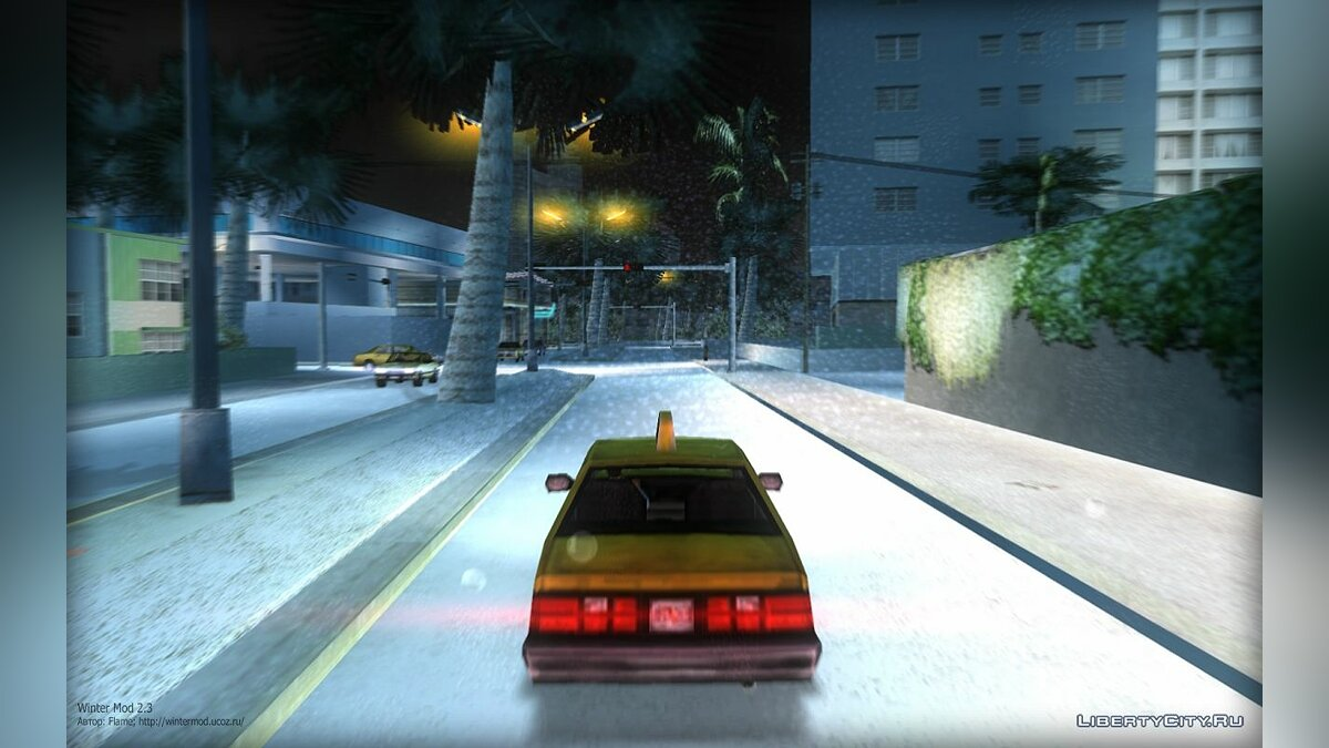 Winter Mod 2.3 for GTA Vice City