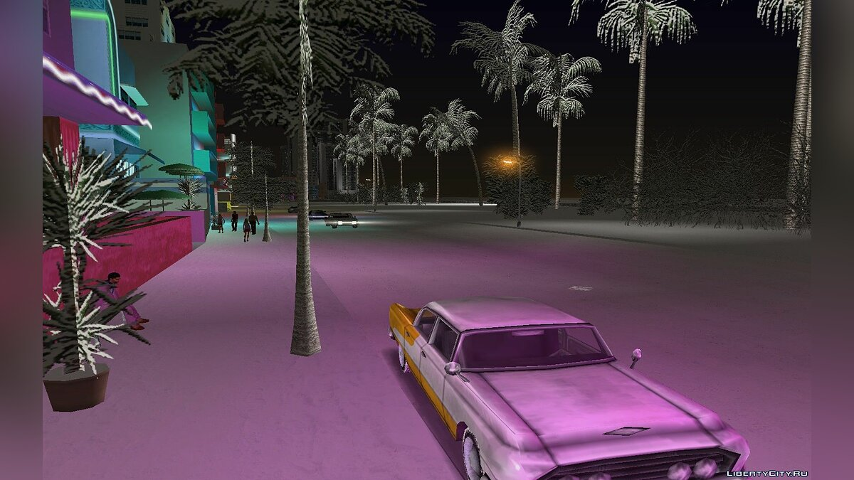 Global mod Snow storm for GTA Vice City