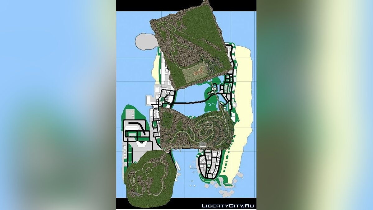 Global mod Soaring islands for GTA Vice City
