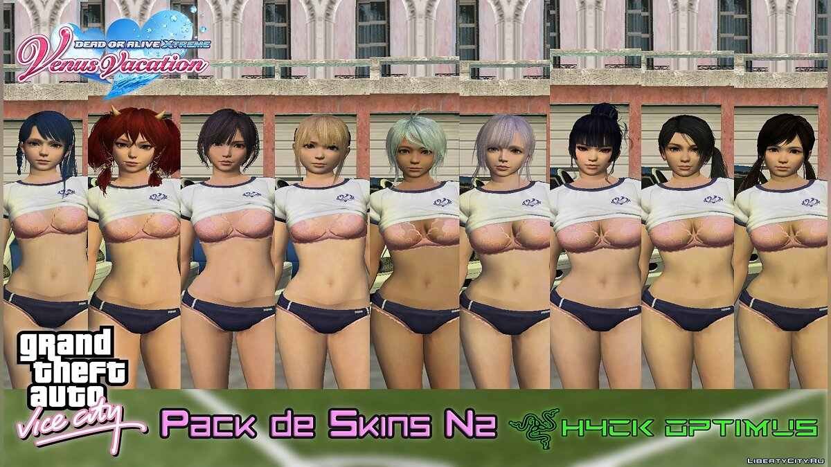 New character Collection of skins from DOAXVV V2 for GTA Vice City