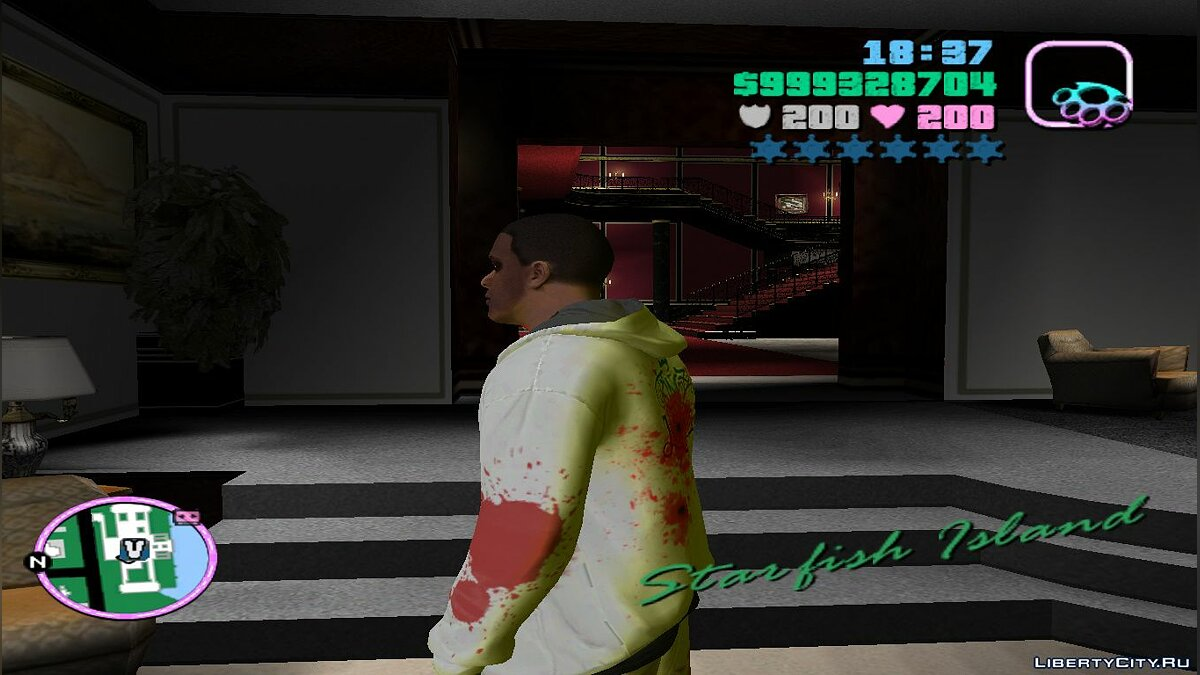 New character Zombie Franklin V.2.1 for GTA Vice City