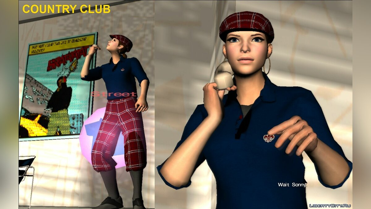 New character Female player from Saints Row The Third and IV for GTA Vice City