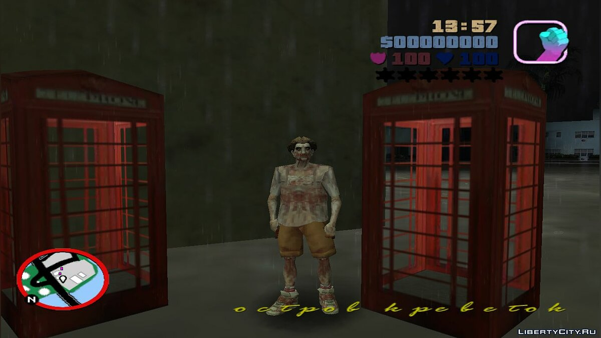 New character Zombie Jmoto (GTA Long Night) for GTA Vice City