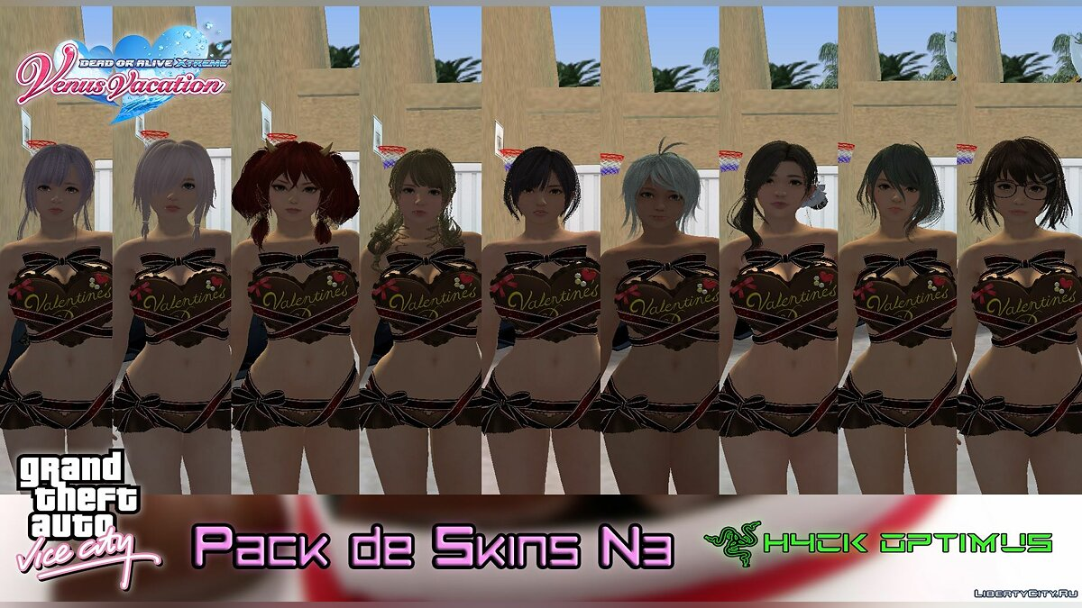 New character Collection of skins from DOAXVV V3 for GTA Vice City