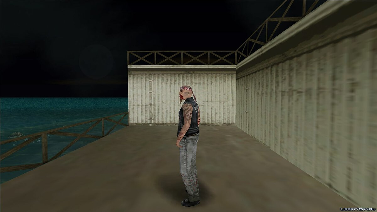 New character Zombie biker for GTA Vice City