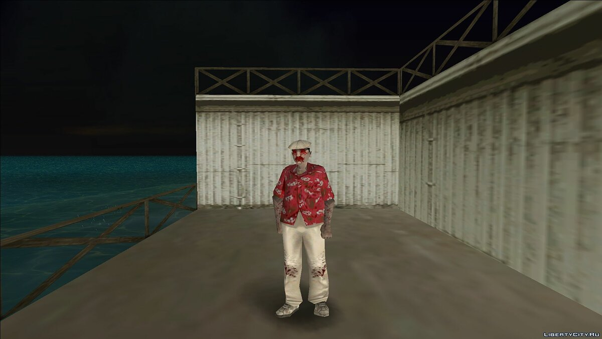 New character Zombie taxi for GTA Vice City