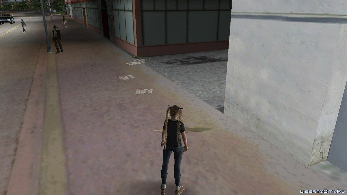 New character Mary rose in punk costume for GTA Vice City