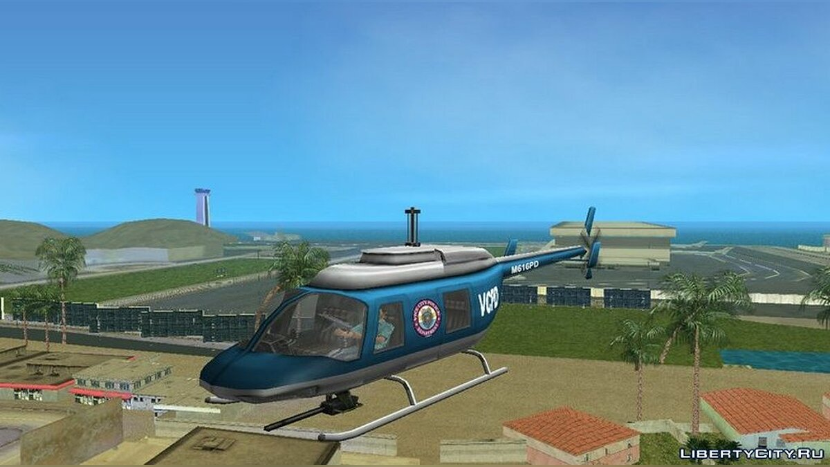 Mod Police Helicopter Shooting for GTA Vice City