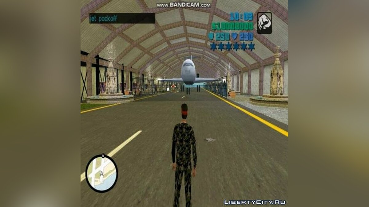Mod Big hangar at the airport for GTA Vice City