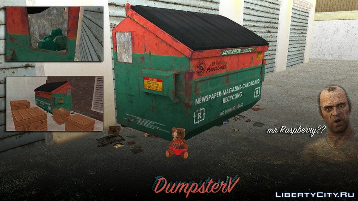 Mod Waste container from GTA 5 for GTA Vice City