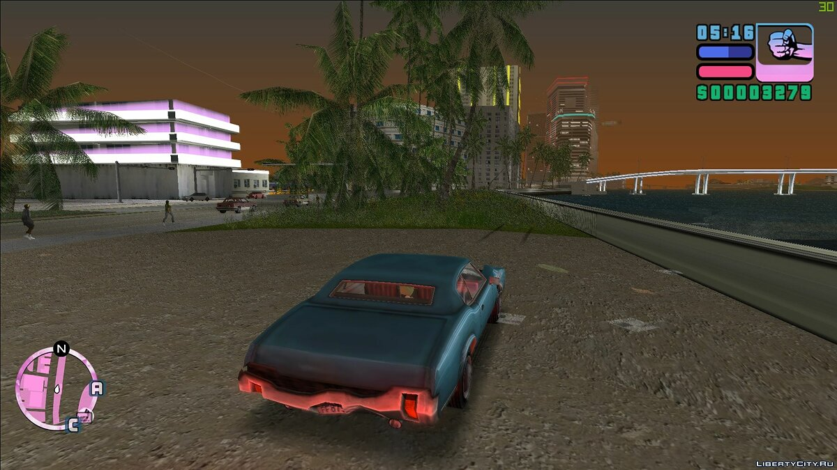 Mod Vice cry neons for GTA Vice City