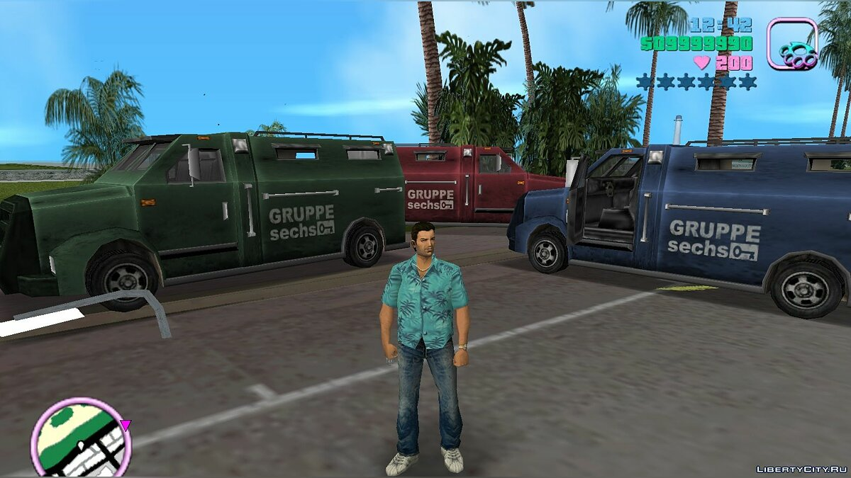 Mod New colors for single-color vehicles for GTA Vice City