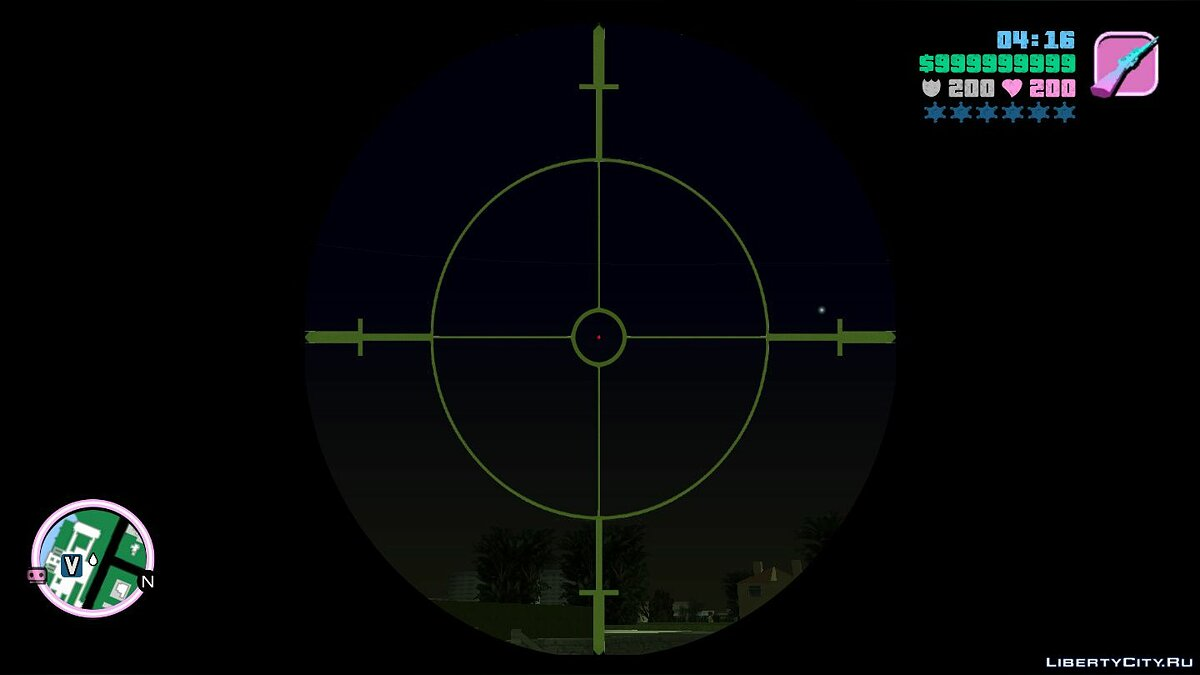 Mod Updated Improved Sniper Rifle Scope for GTA Vice City