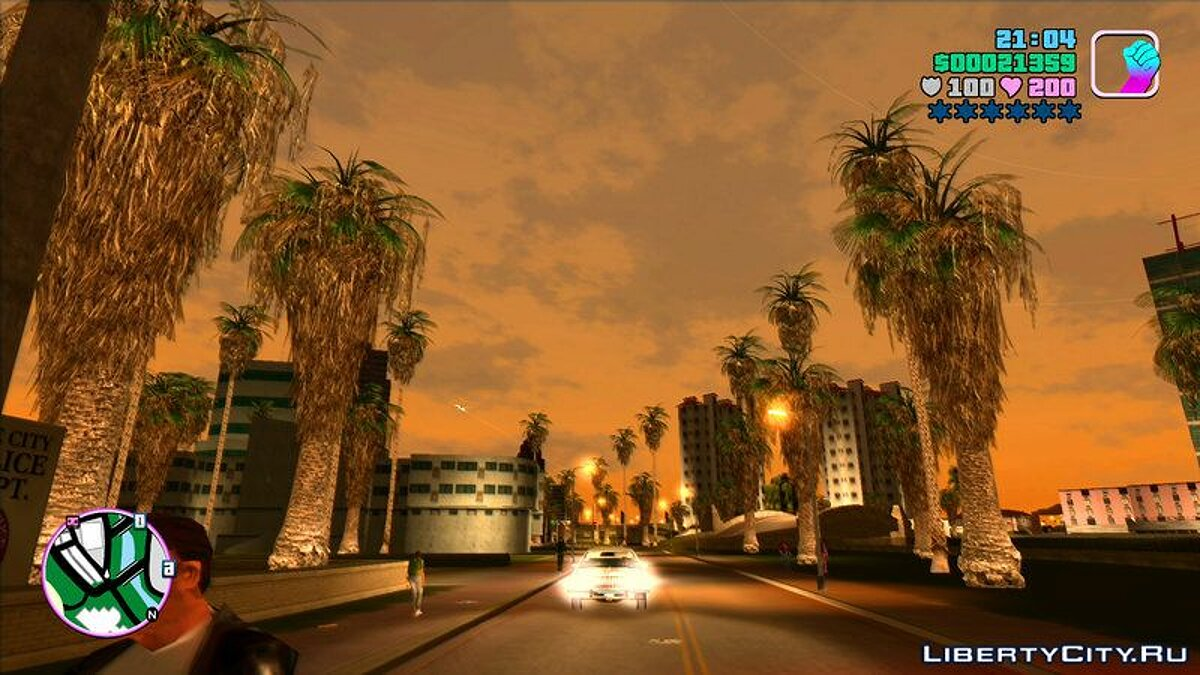 Mod Lots of greenery in the city for GTA Vice City
