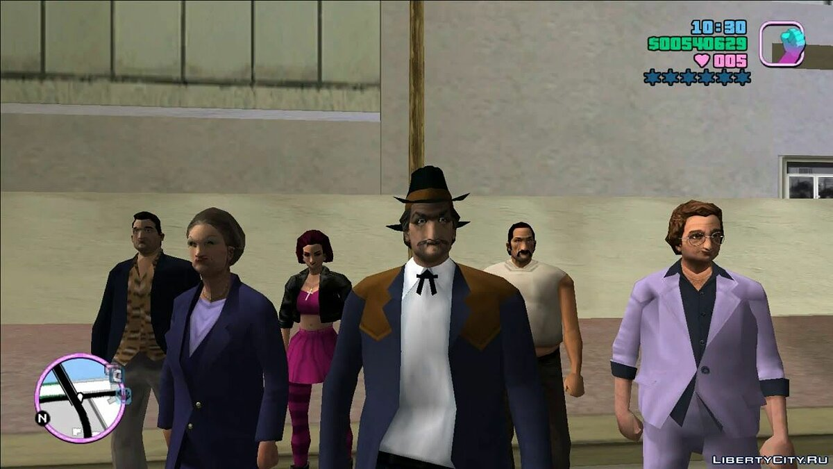 Gtavc_othervideo Game for cutscene characters for GTA Vice City