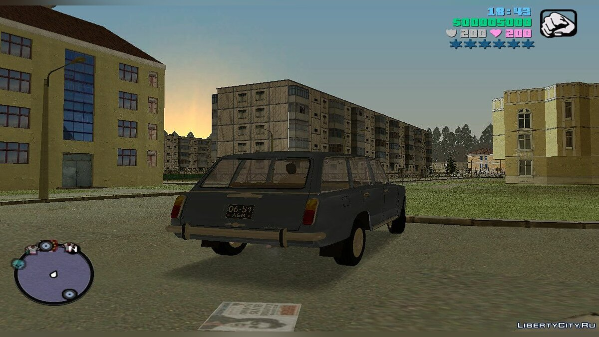 Russian cars Vaz 2102 MVL for Gta Vice City for GTA Vice City
