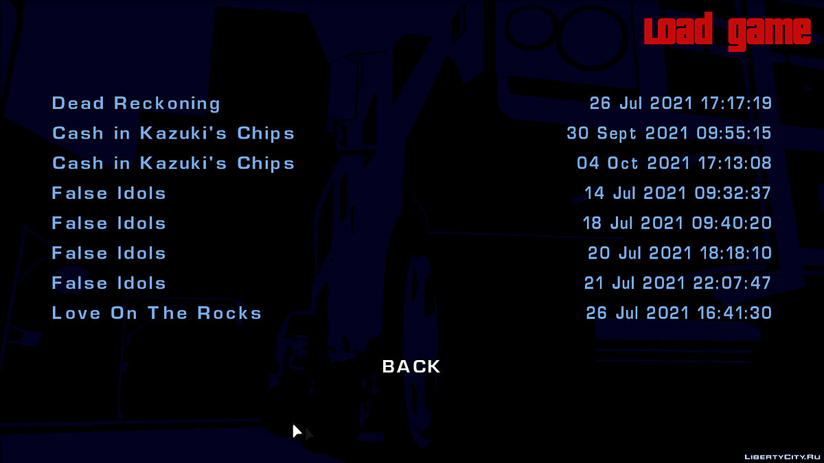 Save All save missions for GTA ReLCS for GTA Vice City