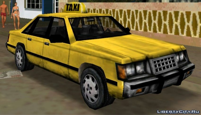 Replacement of taxi in GTA Vice City (19 file)