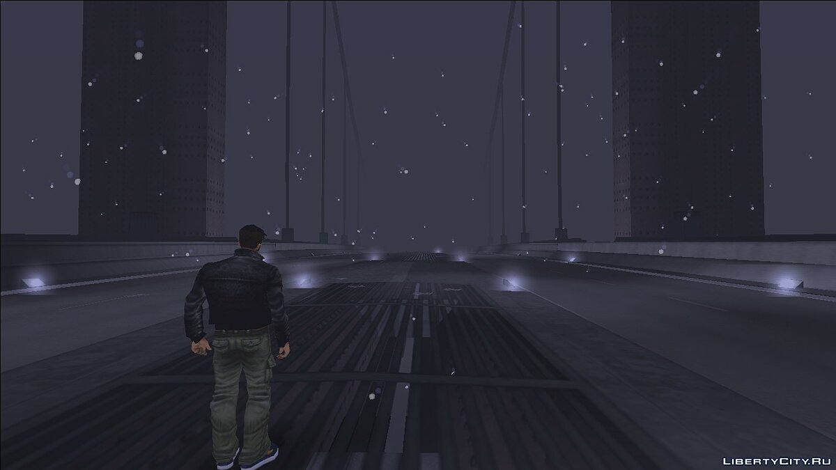 Script mod Snowfall from Liberty Cities Stories for GTA Vice City