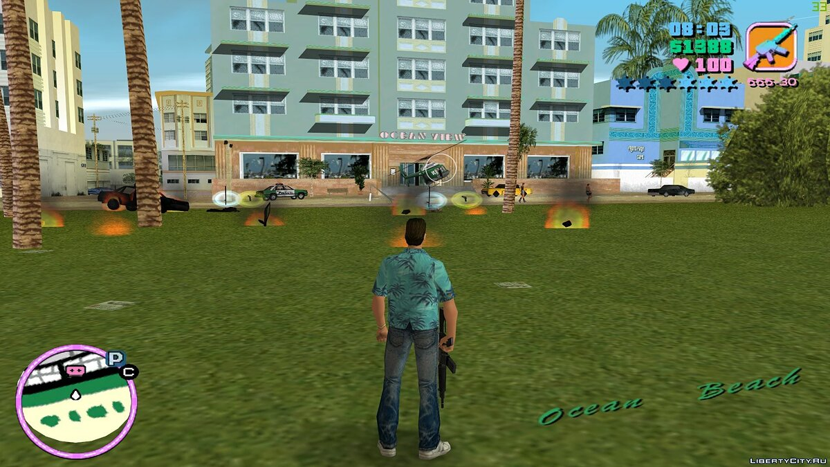 Script mod Fires and fires for GTA Vice City