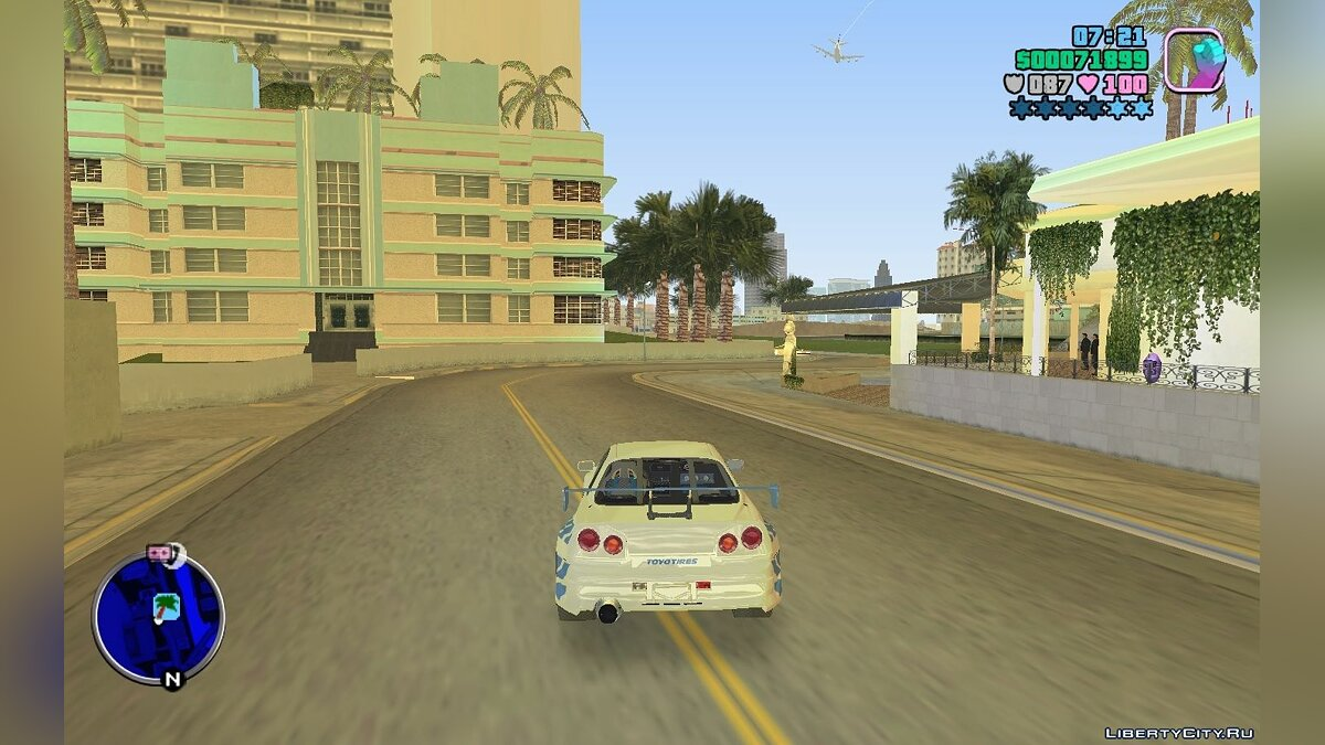 Script mod Red and blue radar when wanted for GTA Vice City