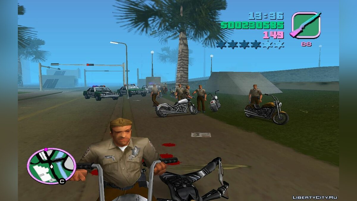 Script mod Motorcycle Traffic Patrol (VC) 1.4 for GTA Vice City