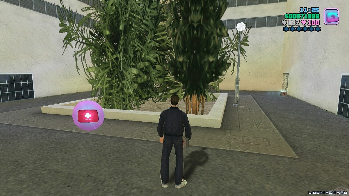 Script mod Heal health with first aid kit v1.1 for GTA Vice City