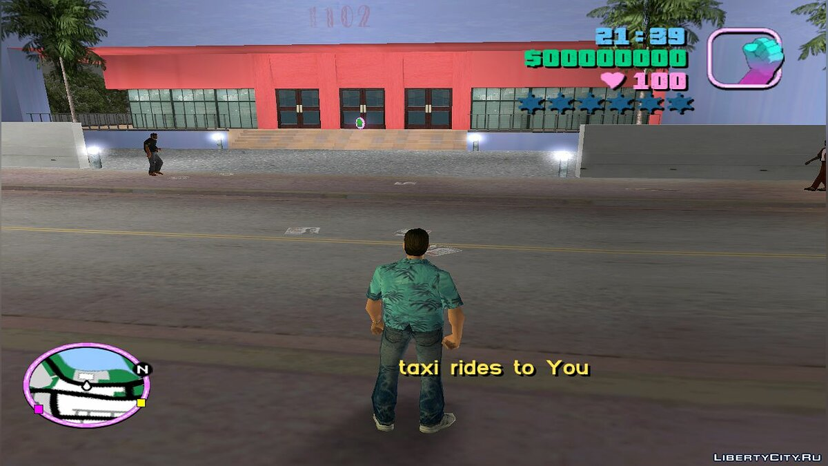 Script mod Taxi for GTA Vice City