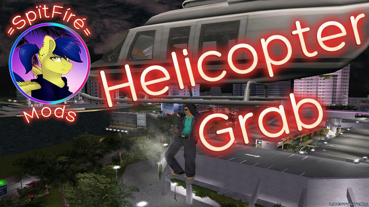 Script mod Helicopter Grab for GTA Vice City