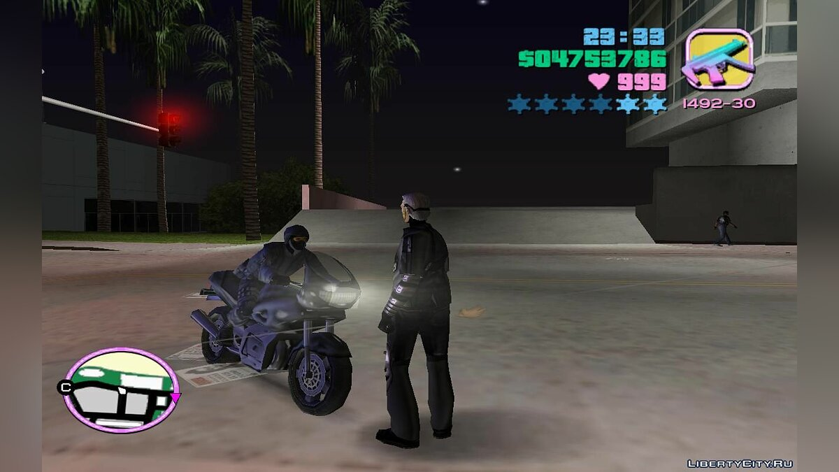 Script mod Special Forces in Traffic on Sports Motorcycles (VC) 1.4 for GTA Vice City