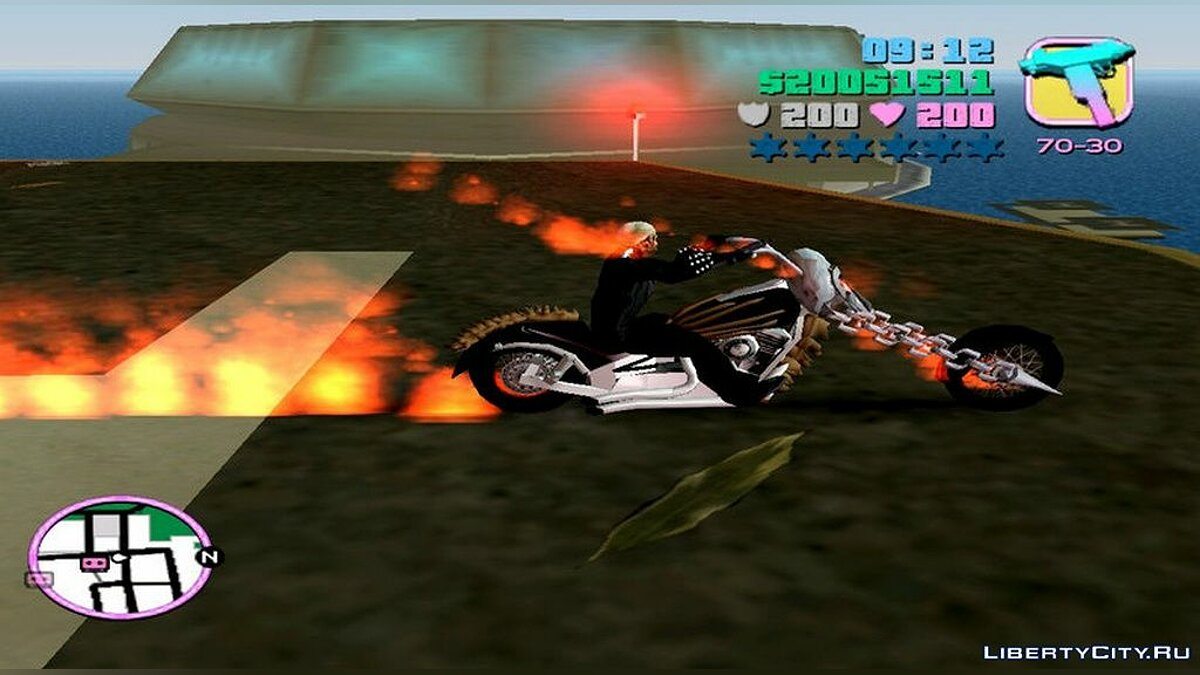 Script mod Ghost rider for GTA Vice City