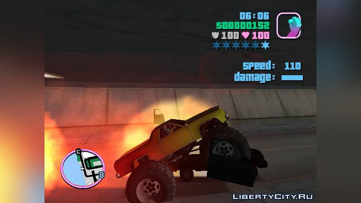 Truck Marshall Monster Truck for Vice City (MVL) v. 1.0 for GTA Vice City