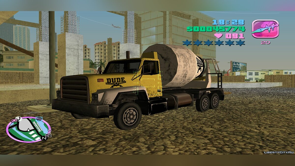 Truck Cement Truck (MVL) for GTA Vice City