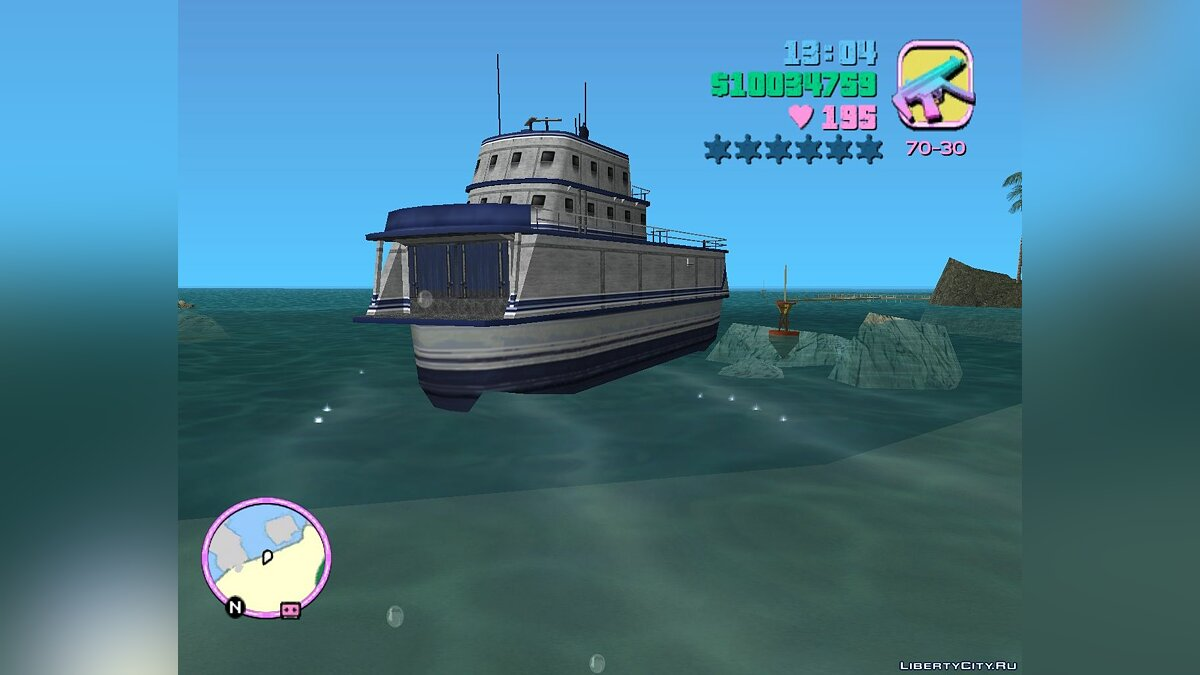 Boats and motorboats Ferry LCS (MVL) for GTA Vice City
