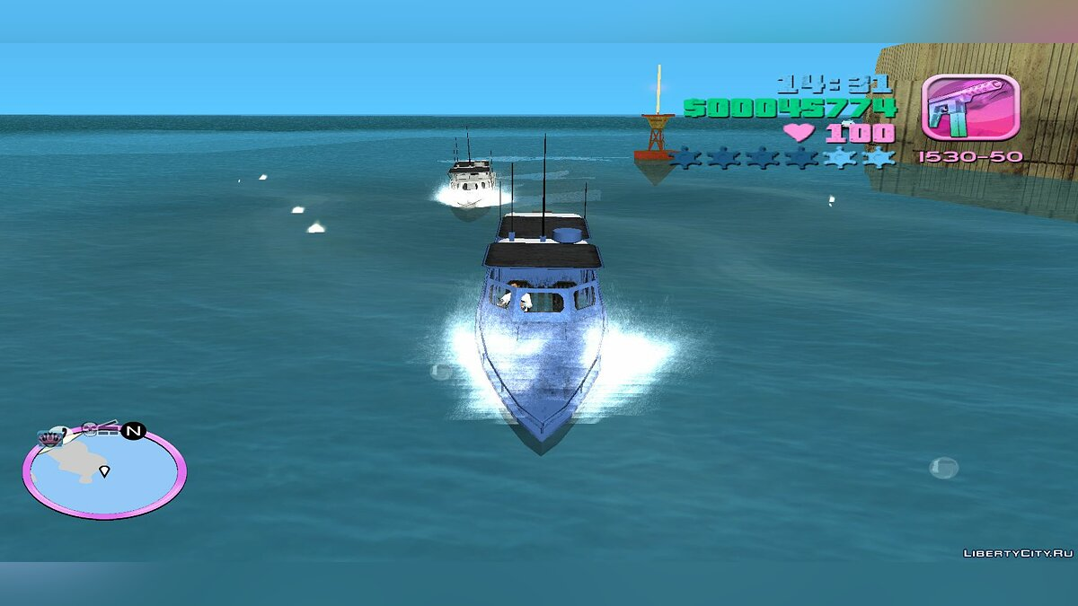 Boats and motorboats Launch (MVL) for GTA Vice City