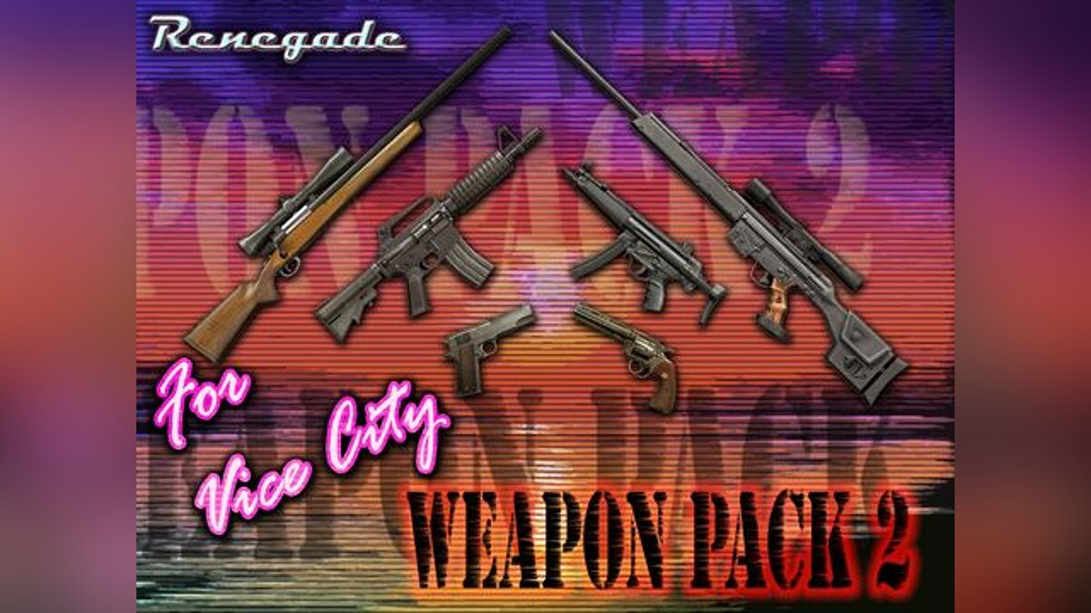 Gunpack from Renegade for GTA Vice City