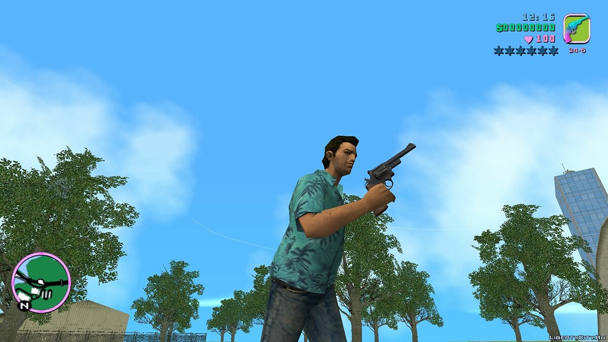Weapon mod .44 pistol from Fallout 4 for GTA Vice City
