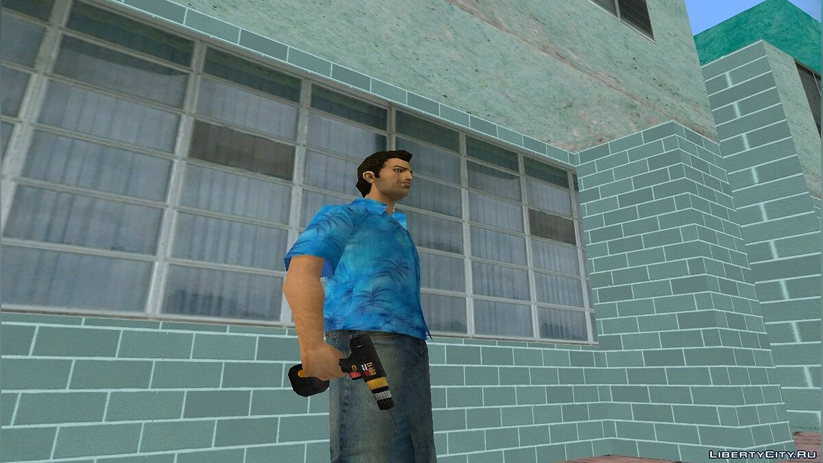 Weapon mod Drill from Postal 2 Eternal Damnation for GTA Vice City