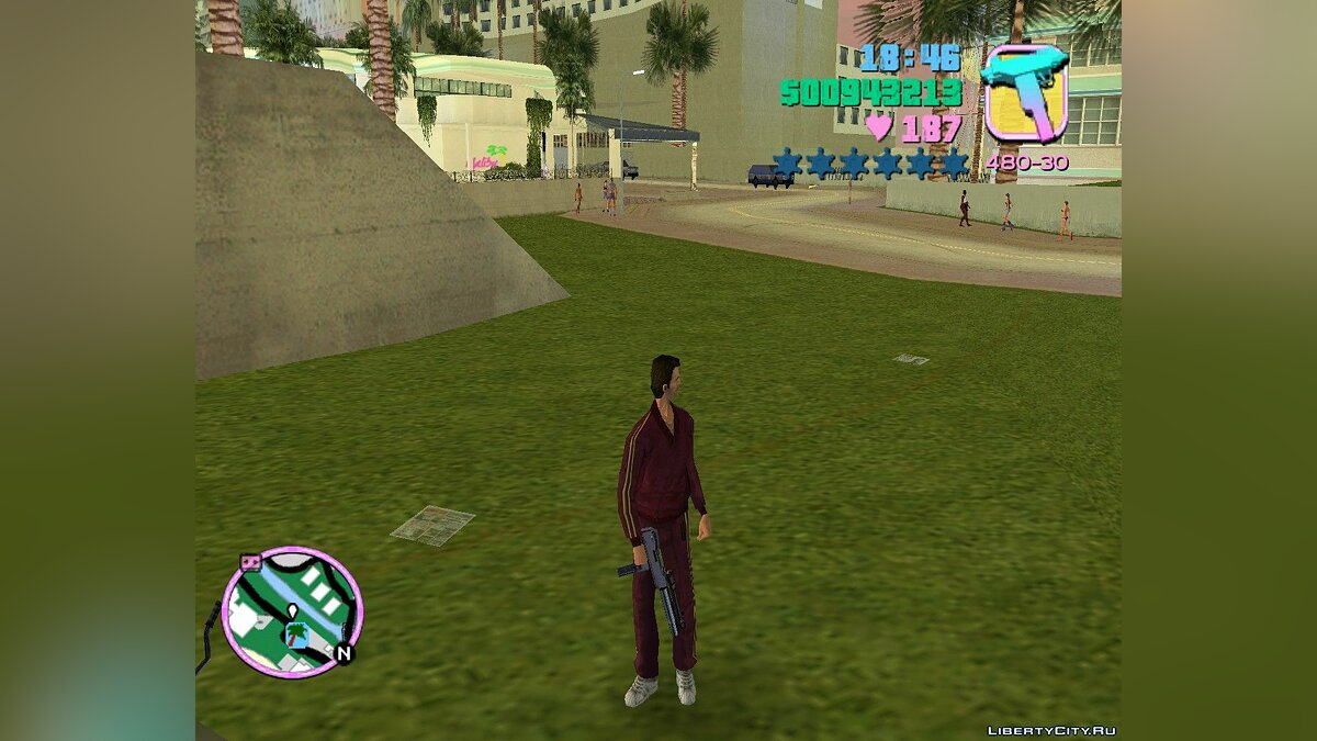Weapon mod New ingram with a silencer and a sight for GTA Vice City