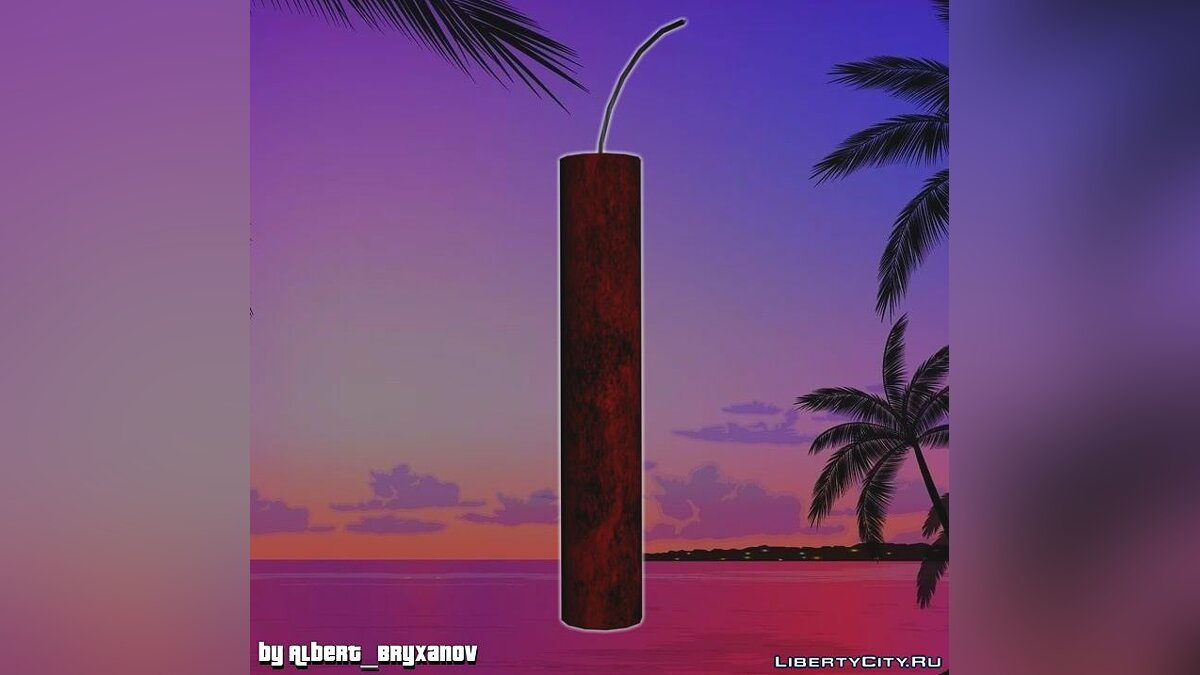 Weapon mod Dynamite from Postal 2 Eternal Damnation for GTA Vice City