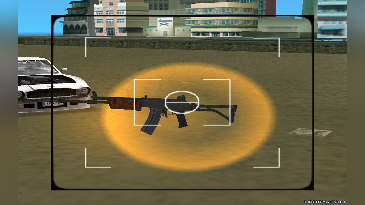 Weapon mod Galil sar for GTA Vice City
