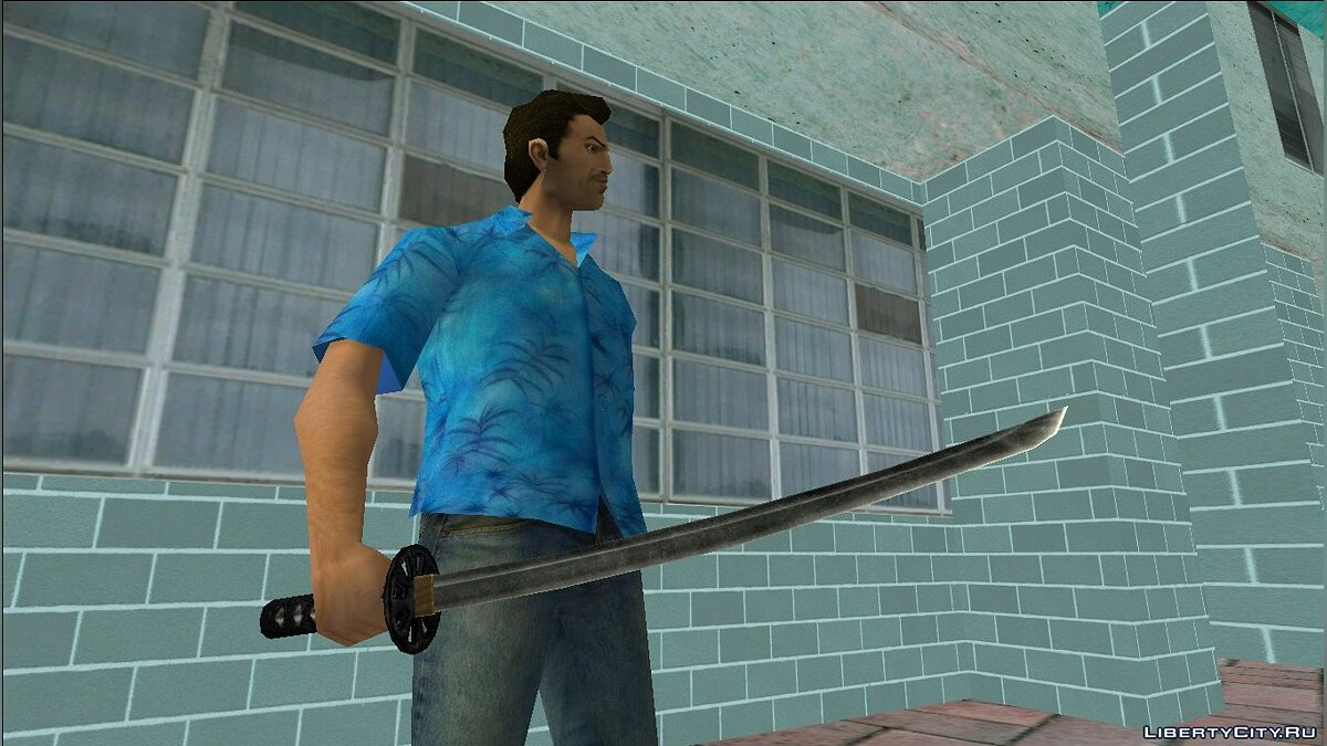 Weapon mod Katana from Postal 2 A Week in Paradise Delete Review for GTA Vice City