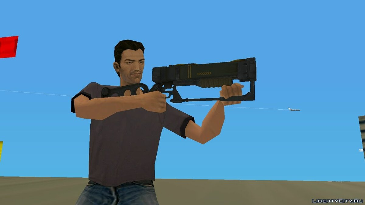 Weapon mod Fallout 4 Laser Rifle for GTA Vice City