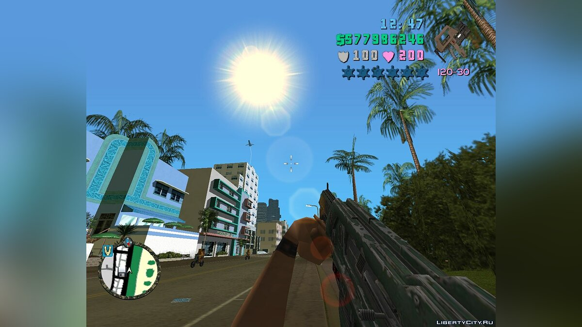 Weapon mod M41A Pulse Rifle for GTA Vice City