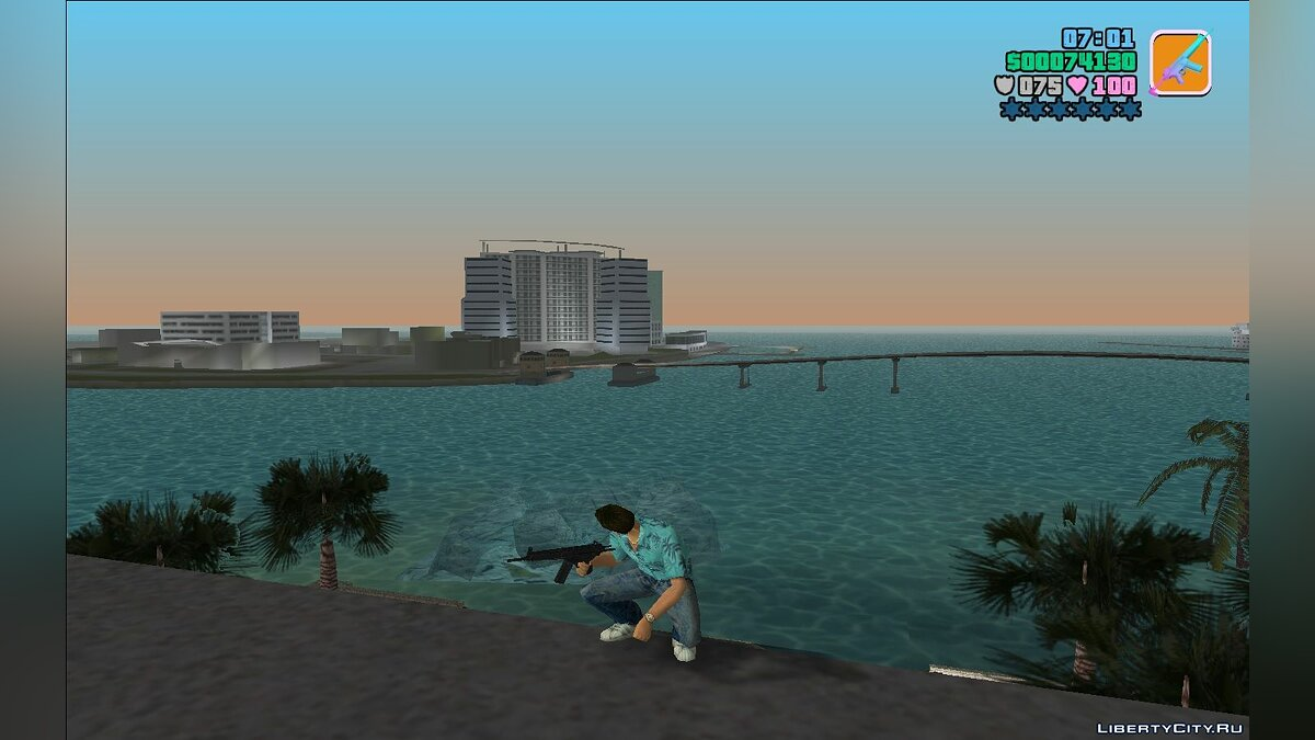 Weapon mod HK33a3 for GTA Vice City