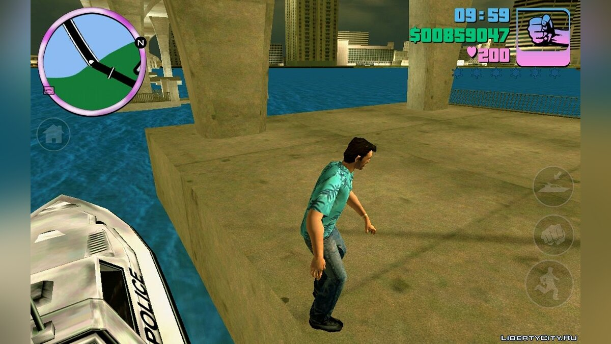 CLEO script Swimming and parkour (android) for GTA Vice City (iOS, Android)